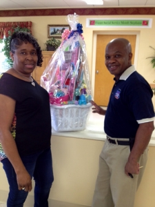 Mr. and Mrs. John Reese won the Easter basket Lighthouse Rehab & HealthCare Center raffled to raise funds for Relay for Life. Mrs. Reese is a Licensed Practical Nurse at Lighthouse.
