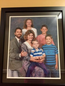 Sasser family photo. Pictured on the left is Dale Sasser, founder of Andalusia Manor.