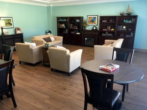 Living room at Regency Health Care & Rehab Center in Huntsville.