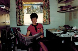 Martha DeArman in her office at Burns Nursing & Rehab, circa 1970s.