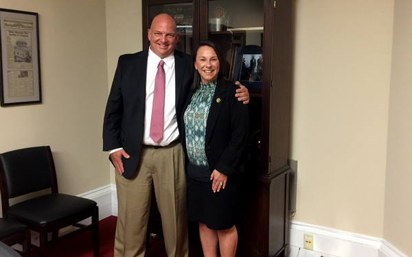 Bill Turenne with Congresswoman Martha Roby.