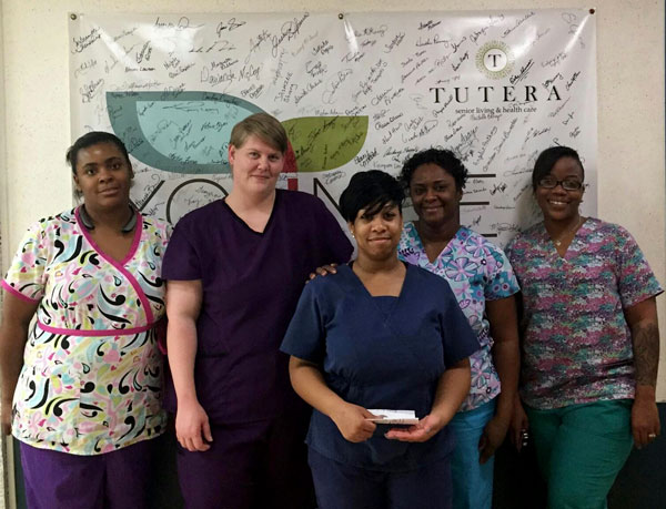 A group of employees from Montgomery Children's Specialty Center's third shift.