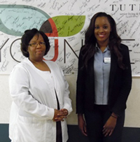 Director of Nursing Cynthia Alexander and Administrator Veronicia Johnson.