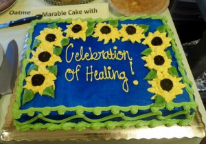 Roanoke Rehab & HealthCare Center created a special cake for the Celebration of Healing.