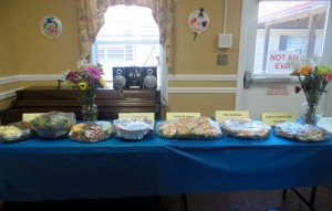 Patient John Murph selected the food served at his Celebration of Healing at Roanoke Rehab & HealthCare Center.