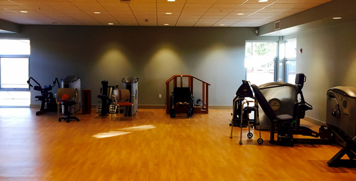 Therapy gym at the rehab inn at wesley place on honeysuckle