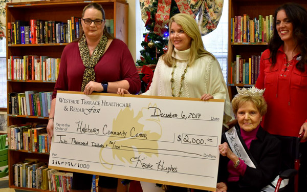 "From left to right: Haleburg Senior Center Director Amanda Henderson, Westside Terrace Administrator Kristie Hughes, Ms. Alabama Nursing Home 2017 Sarah ""Sally"" Scott and Westside Terrace Admissions and Marketing Director Kelly Reinhardt."