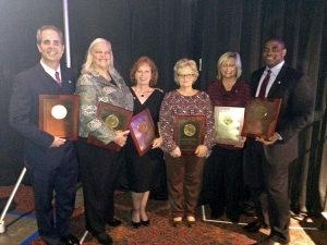 Alabama's AHCA Bronze Quality Award winners from left to right: William F. Green State Veterans Home Administrator Brian McFeely, Talladega Health & Rehab Administrator Mary Tuberville, Glenwood Center Director of Nursing Jerrie Joyner, Generations of Red Bay Administrator Pam Poole, Generations of Vernon Administrator Darlene Miller and Col. Robert L. Howard State Veterans Home Administrator Derrick Williams.