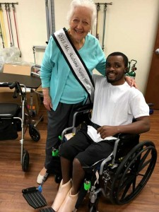 Ms. Alabama Nursing Home Sylvia Holland and Englewood Health Care Center resident Odarrian Watson.
